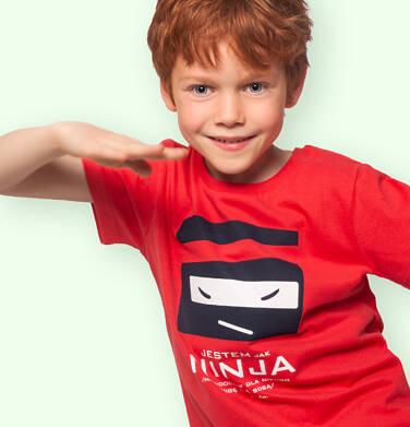 Endo - T-shirt z krótkim rękawem dla chłopca, z nija, czerwony, 9-13 lat C06G129_1 104
