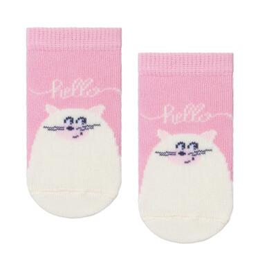 Endo - Różowe skarpetki dziecięce z kotkiem D08P048_1 10
