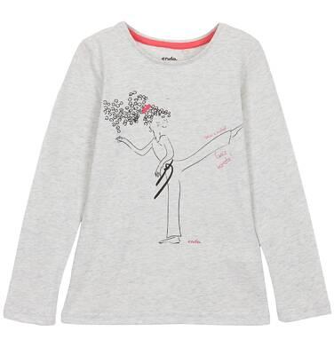 Endo - Bluzka z długim rękawem dla dziewczynki 3-8 lat D62G131_1