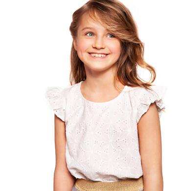 Endo - Bluzka z haftowanej tkaniny dla dziewczynki 9-13 lat D91D507_1