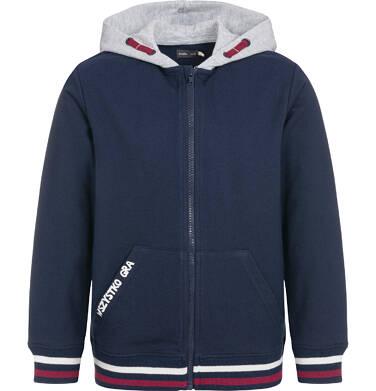 Endo - Rozpinana bluza z kapturem dla chłopca, wszystko gra, granatowa, 9-13 lat C92C505_1