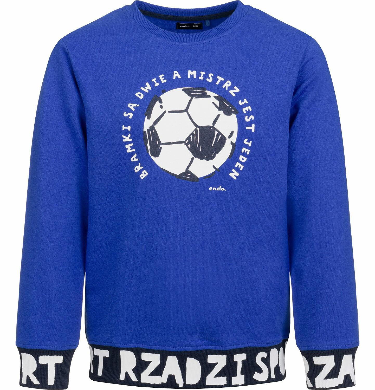Endo - Bluza dla chłopca, z piłką, sport rządzi, ciemnoniebieska, 2-8 lat C03C003_1
