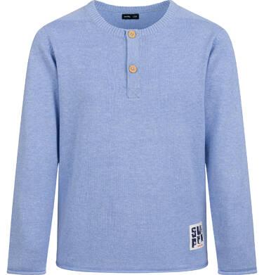 Sweter dla chłopca, błękitny melanż, 2-8 lat C04B008_1