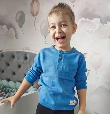 Endo - Sweter dla chłopca, błękitny melanż, 2-8 lat C04B008_1,2