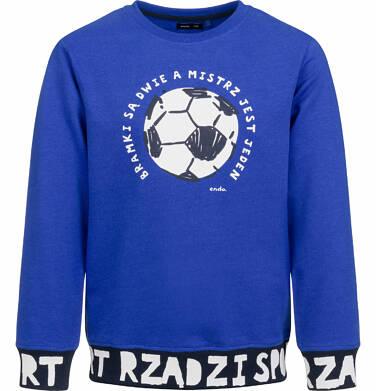 Bluza dla chłopca, z piłką, sport rządzi, ciemnoniebieska, 9-13 lat C03C503_1