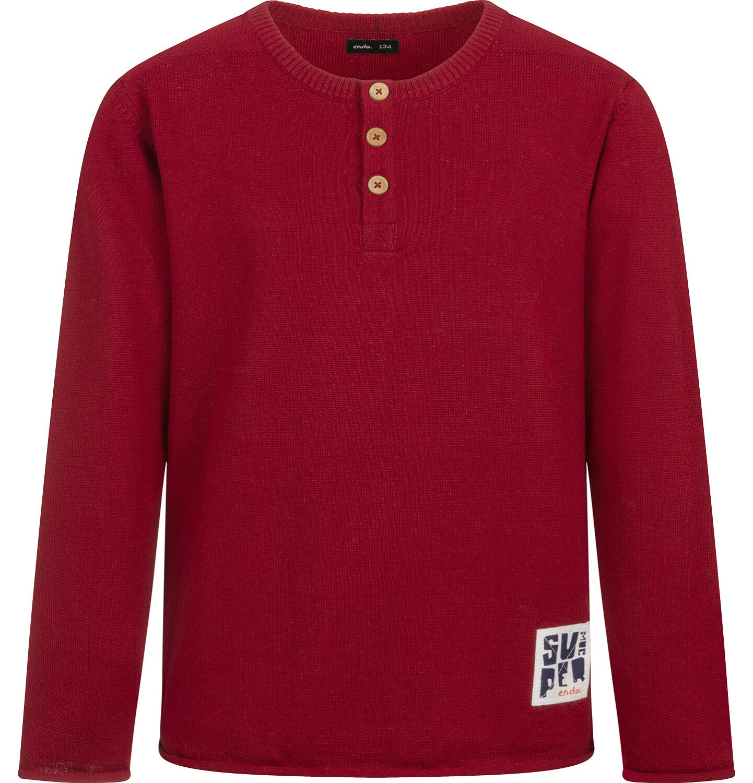 Endo - Sweter dla chłopca, bordowy, 2-8 lat C04B008_2