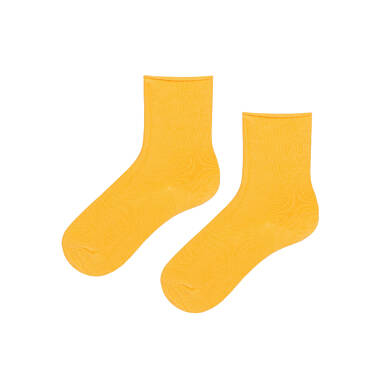 Endo - Skarpetki niemowlęce z bawełny organicznej, żółte N08P001_4 7