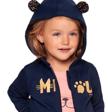Endo - Bluza rozpinana z kapturem dla dziewczynki 3-8 lat D92C007_1