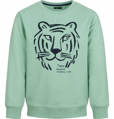 Endo - Bluza dla chłopca, z  tygrysem, zielona, 9-13 lat C03C515_1