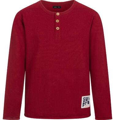 Endo - Sweter dla chłopca, bordowy, 9-13 lat C04B016_2 4