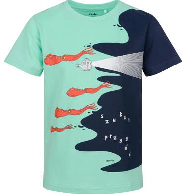 Endo - T-shirt z krótkim rękawem dla chłopca, z morskim motywem, nieieski, 2-8 lat C03G134_1 9