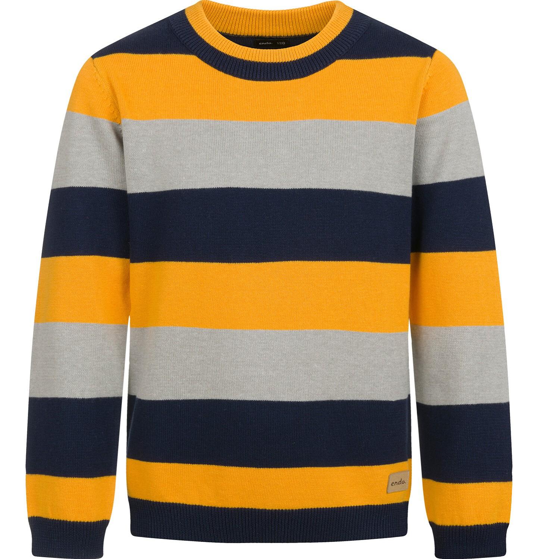 Endo - Sweter dla chłopca, w paski, 2-8 lat C04B017_1
