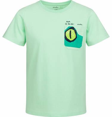 Endo - T-shirt z krótkim rękawem dla chłopca, z kieszonką, jasnozielony, 9-13 lat C03G503_1