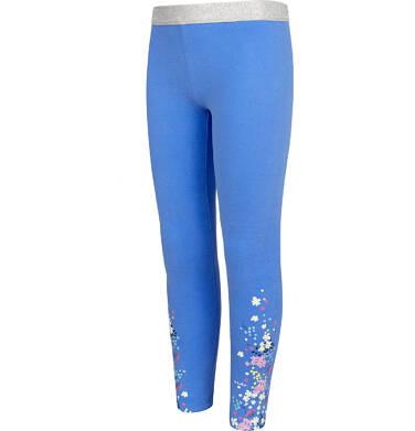 Endo - Legginsy dla dziewczynki, błękitne z kwiatkami, 2-8 lat D05K076_2 14