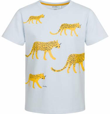 Endo - T-shirt z krótkim rękawem dla chłopca, z lampartem, niebieski, 2-8 lat C03G005_1