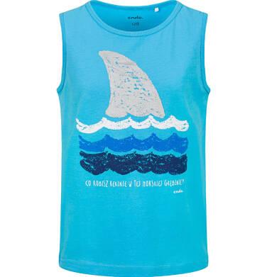 Endo - T-shirt na ramiączkach dla chłopca, z morskim motywem, niebieski, 9-13 lat C03G635_1
