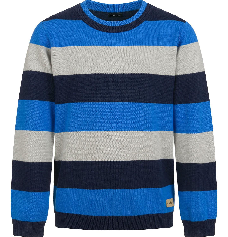 Endo - Sweter dla chłopca, w paski, 9-13 lat C04B023_2