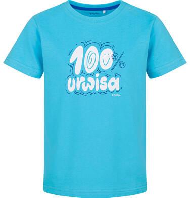 Endo - T-shirt z krótkim rękawem dla chłopca, 100% urwisa, niebieski, 2-8 lat C03G157_1