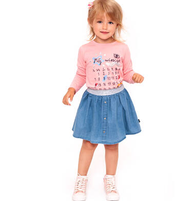 Endo - Spódnica jeansowa dla dziewczynki 3-8 lat D91J004_1