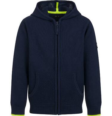 Sweter dla chłopca, rozpinany, granatowy, 9-13 lat C04B027_1