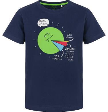 Endo - T-shirt z krótkim rękawem dla chłopca, z przepisem na sukces, granatowy, 2-8 lat C03G160_1 244