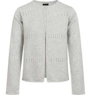 Endo - Sweter dla dziewczynki, rozpinany, szary, 2-8 lat D04B004_2 3