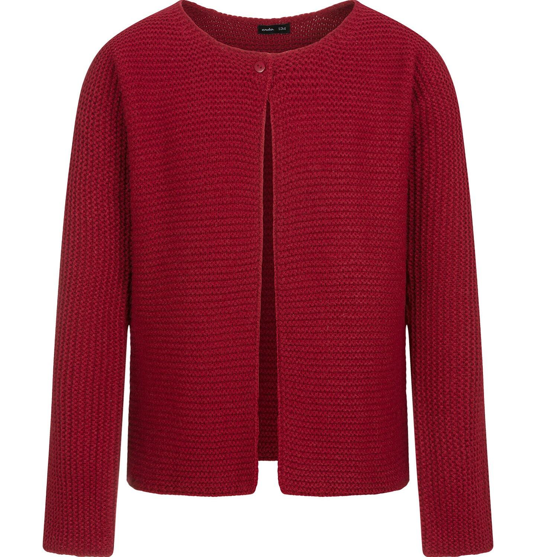 Endo - Sweter dla dziewczynki, rozpinany, bordowy, 2-8 lat D04B008_1