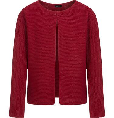 Sweter dla dziewczynki, rozpinany, bordowy, 2-8 lat D04B008_1