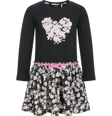 Endo - Sukienka z długim rękawem dla dziewczynki 3-8 lat D92H022_1