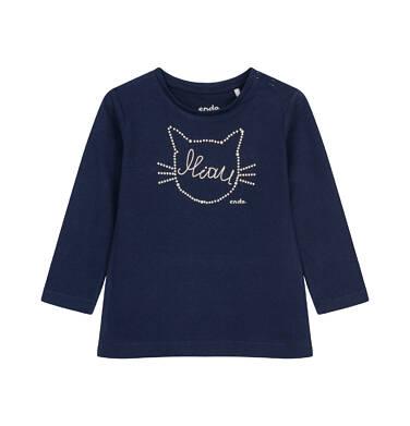 Endo - Bluzka z długim rękawem dla dziecka do 2 lat, z kotem N04G028_3 25