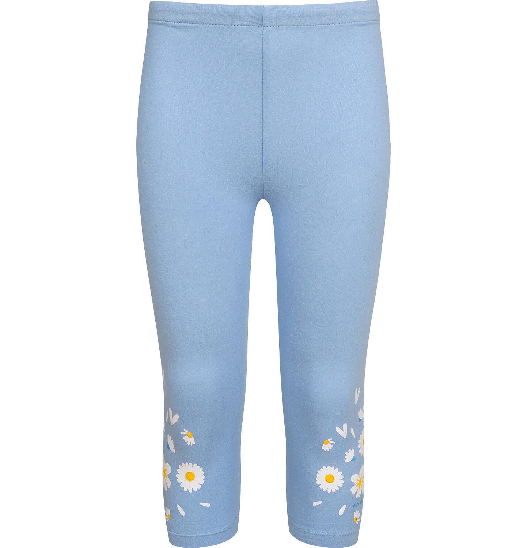 Endo - Legginsy 3/4 dla dziewczynki, błękitne ze stokrotkami, 9-13 lat D05K078_2