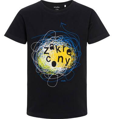 Endo - T-shirt z krótkim rękawem dla chłopca, z napisem zakręcony, czarny, 9-13 lat C06G159_1 112