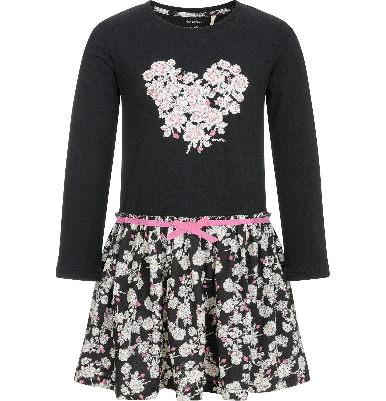 Endo - Sukienka z długim rękawem dla dziewczynki 9-13 lat D92H522_1