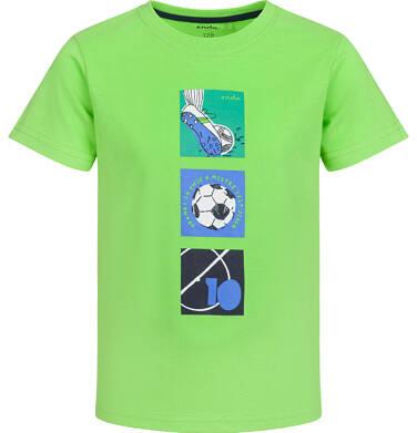 Endo - T-shirt z krótkim rękawem dla chłopca, bramki są dwie, zielony, 2-8 lat C03G057_1