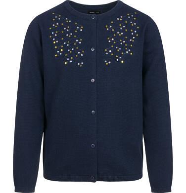Endo - Sweter dla dziewczynki, rozpinany, granatowy, 9-13 lat D04B010_1,1