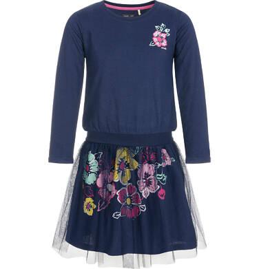 Endo - Sukienka z długim rękawem dla dziewczynki 3-8 lat D92H027_1