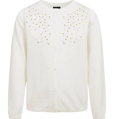 Endo - Sweter dla dziewczynki, rozpinany, porcelanowy, 9-13 lat D04B010_3 189