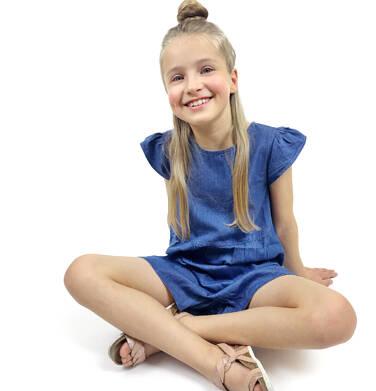 Endo - Kombinezon jeansowy dla dziewczynki 9-13 lat D91K513_1