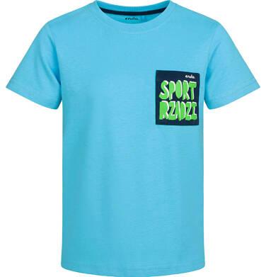 T-shirt z krótkim rękawem dla chłopca, sport rządzi, niebieski, 2-8 lat C03G058_1
