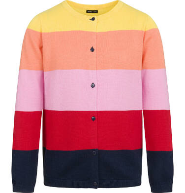Endo - Sweter dla dziewczynki, rozpinany, w paski, 9-13 lat D04B011_1,2