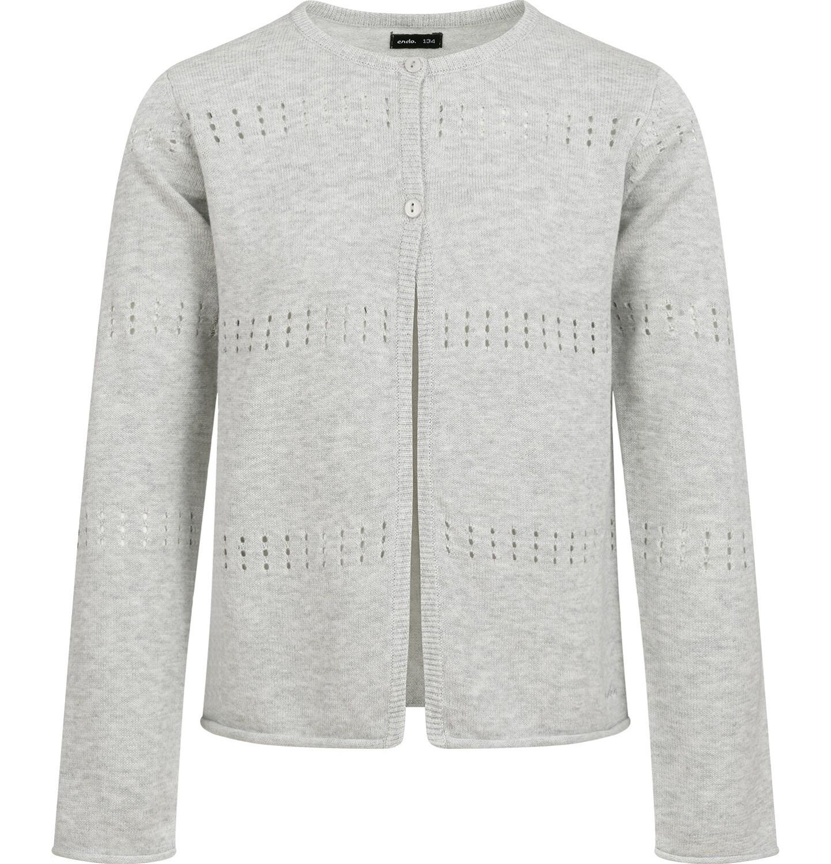 Endo - Sweter dla dziewczynki, rozpinany, szary, 9-13 lat D04B012_2