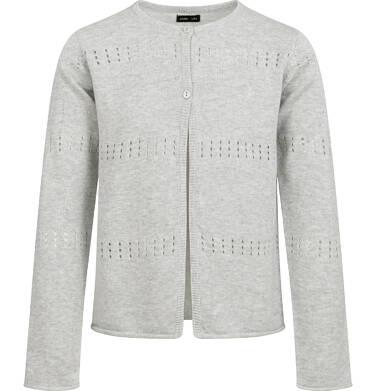 Endo - Sweter dla dziewczynki, rozpinany, szary, 9-13 lat D04B012_2,1