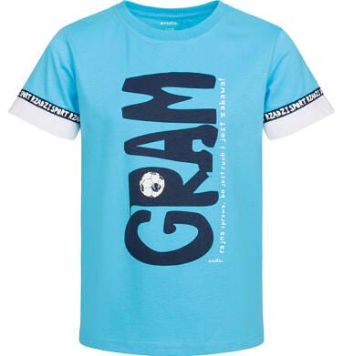 Endo - T-shirt z krótkim rękawem dla chłopca, gram - fajna sprawa, niebieski, 2-8 lat C03G071_1