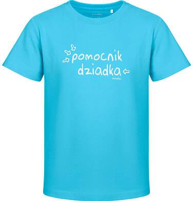 Endo - T-shirt z krótkim rękawem dla chłopca, pomocnik dziadka, niebieski, 2-8 lat C03G170_1