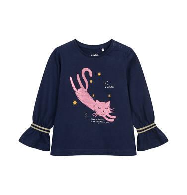 Endo - Bluzka z długim rękawem dla dziecka do 2 lat, z kotem N04G031_1 24