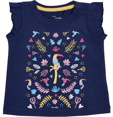 Endo - Bluzka z krótkim rękawem dla dziecka 0-3 lata N81G029_1