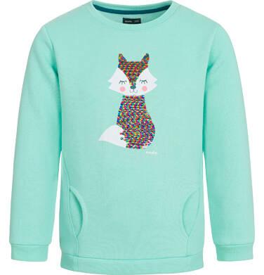 Bluza dla dziewczynki, z cekinami, miętowa, 3-8 lat D92C022_1