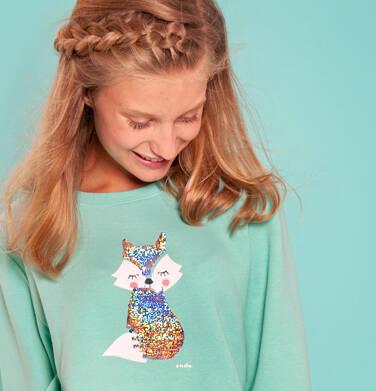 Endo - Bluza dla dziewczynki, z cekinami, miętowa, 3-8 lat D92C022_1