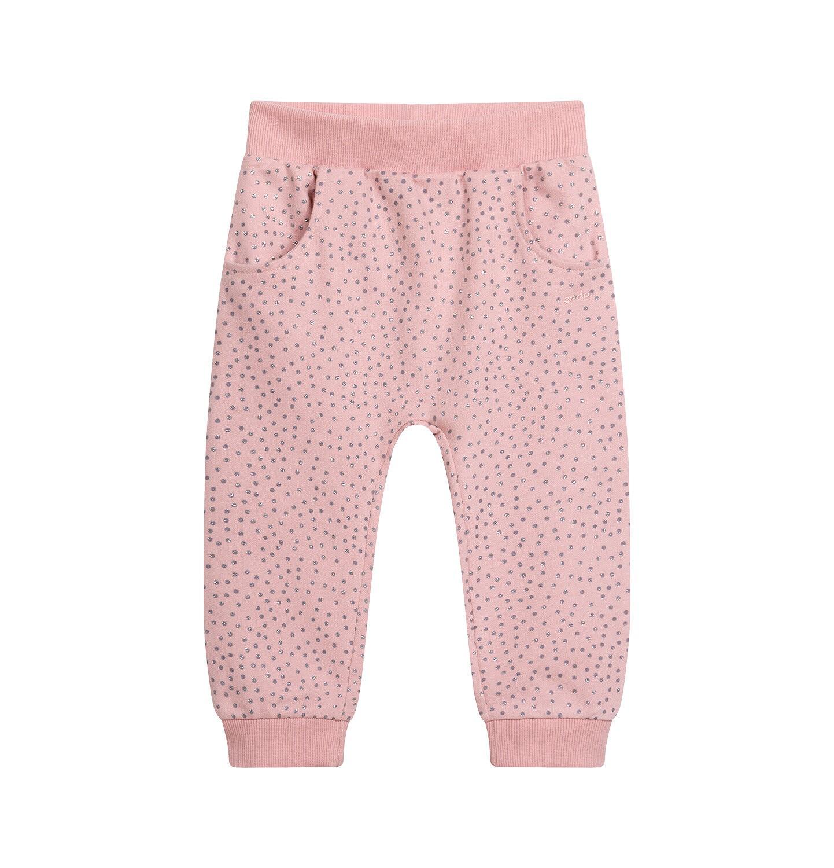 Endo - Spodnie dresowe dla dziecka do 2 lat, z brokatem, różowe N04K025_1