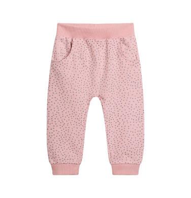 Endo - Spodnie dresowe dla dziecka do 2 lat, z brokatem, różowe N04K025_1 1
